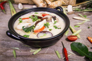 Chicken Coconut Soup (Tum Kha Kai Thai Food) :(Vegetarian for good health )