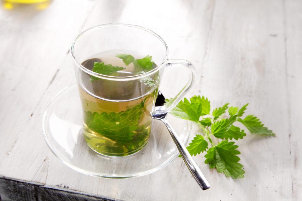 Filiżanka herbatki z pokrzywy