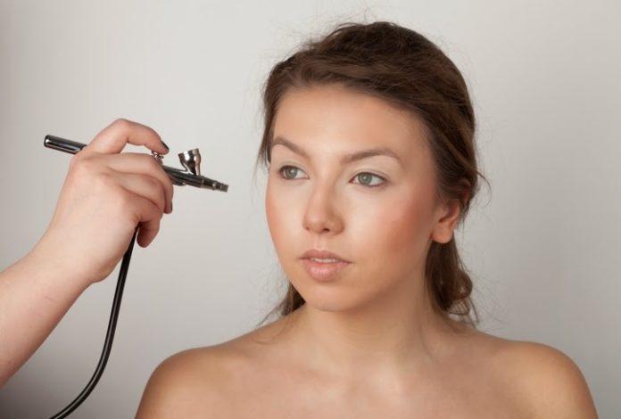 airbrush, makijaż silikonowy, makijaż natryskowy